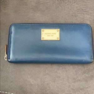 Michael Kors leather wallet blue